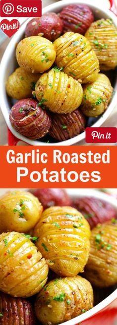 DIY Garlic Roasted Potatoes - Ingredients Vegetarian Gluten free ...