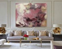 Watercolor Abstract Painting Contemporary Art Print Huge