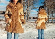 Vintage Sunburst Brown Suede Almost Famous Coat Shaggy Almost Famous Jacket by GimmeShelterVintage