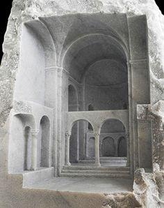 Basilica IV 2011 Carrara marble, 40 X 40 X 200cm