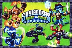 14  Skylanders Swap Force Group Birthday  Edible Image CakeCupcake Topper ** See this great product.