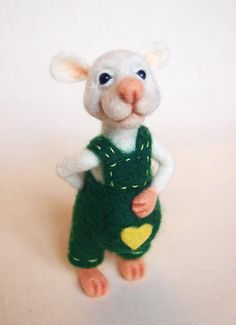 Needle Felted Rat. Needle Felted Animals.  Wool Soft Sculpture by FluffyFuzzy, $35.00