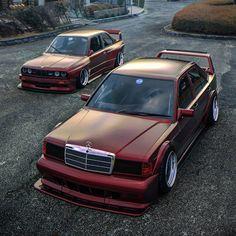 Mercedes E90 Cosworth & E30 M3 BMW