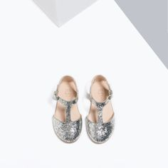 Image 4 of GLITTER T-BAR SHOES from Zara