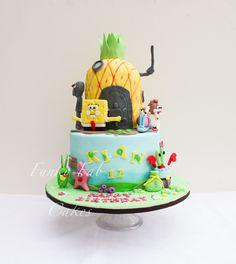 SpongeBob  square pants themed cake