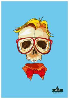 Hipster Skull by Oliver Ariel, via Behance