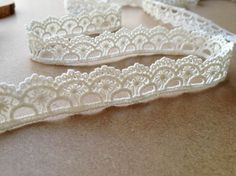 Cotton Ribbon Lace White Cotton Lace Trim Lace Gift by lacelindsay, $2.99