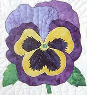 Pansy Quilt Block