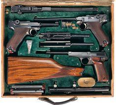 Fishstick Monkey: Luger Set in a Luxe Box Weapons Guns, Guns And Ammo, Luger Pistol, Revolvers, Gun Cases, Cool Guns, Firearms, Hand Guns, Arsenal