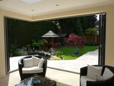 A beautiful use of our Bifold doors in the UK, we need to get some pictures of our Dubia work !