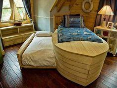 Pirate ship bedroom.