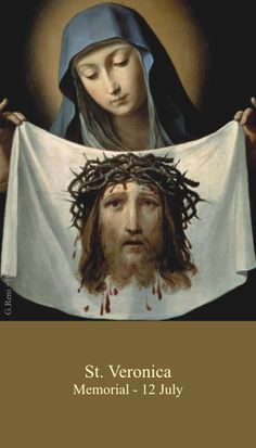 St Veronica is my Confirmation saints