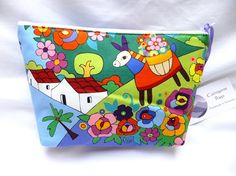 Bright and Colourful Makeup or Travel Bag by cairngormbags on Etsy, £10.00