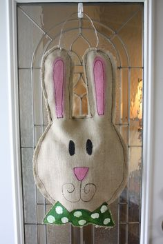 burlap bunny!  love the both