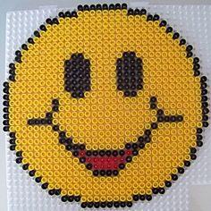 Smiley hama beads by Les loisirs de Pat Perler Bead Emoji, Perler Beads, Plastic Canvas Patterns, Plastic Canvas Coasters, Cross Stitch Designs, Cross Stitch Patterns, Crochet Pixel, Art Hama, Easy Perler Bead Patterns