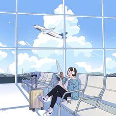 Cartoon Girl Images, Cartoon Art, Girl Cartoon, Cute Cartoon Wallpapers, Animes Wallpapers, Aesthetic Art, Aesthetic Anime, Arte Peculiar, Illustration Art