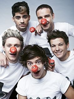 louis tomlinson Harry Styles One Direction Zayn Malik liam payne Niall Horan mine charity red nose day rednoseday One Direction Tickets, Four One Direction, One Direction Preferences, One Direction Pictures, One Direction Photoshoot, 0ne Direction, Direction Quotes, One Direction Imagines, 1d Imagines