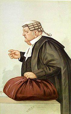 "Vanity Fair Caricature of Mr Samuel Pope QC. Barrister. Caption -""Jumbo""."
