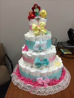 Little Mermaid diaper cake