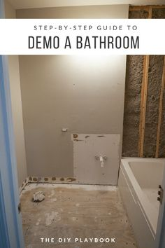 Step-by-step guide to demo a bathroom in a weekend. The first step on our bathroom renovation to-do list was to rip absolutely everything on outta there! If we can demo a bathroom in a weekend, then anyone can. Here are the steps we took to get it all cle Diy Bathroom Remodel, Bathroom Renos, Diy Bathroom Decor, Bathroom Renovations, Small Bathroom, Bathroom Ideas, Master Bathroom, Seashell Bathroom, Modern Bathroom