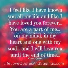 Love you forever!