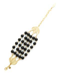 David Aubrey Gold & Bead Multi-Strand Bracelet