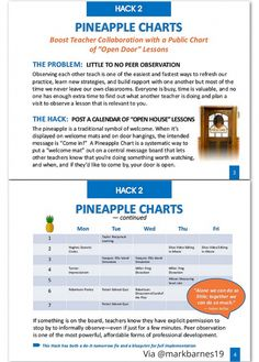 Pineapple Charts for peer observation via Mark Barnes Teacher Education, New Teachers, Teacher Resources, Primary Education, Education Quotes, School Leadership, Educational Leadership, Educational Administration, School Counseling