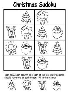 christmas sudoku page easy
