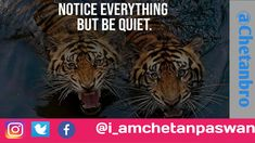 Notice everything but be quiet |Chetanbro Staying quiet helps give you a reason to speak, to analyze your situationsand yourself, to be aware of how you are going to react. Quietenriches you. Will you allow it to enter your life? #entrepreneur #motivationalquotes #inspirationalquotes #success #chetanbro_quotes #motivation #inspiration Quotes Motivation, Motivation Inspiration, Bro Quotes, Success Quotes, Motivationalquotes, Everything, Entrepreneur, Inspirational Quotes, Life