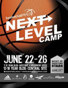 Flyer Design For Kids Basketball Camp. Designed By BrandAndBrush.com.  #graphicdesign #