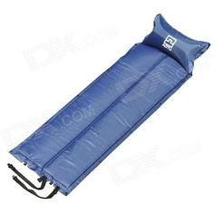 Brand: Aotu; Model: o333; Quantity: 1; Color: Deep blue; Material: 190T PVC; Functions: Outdoor camping mat, sleeping pad; Best use: Camping; Sleeping Pad Type: Air Pad; Sleeping Pad Shape: Semi Rectangular; Other Features: Size: 185 x 55 x 2.5cm; Built-in high elastic sponge; Two plastic air valve; With one pack of repair patches; Weight: 980g; Packing List: 1 x Inflatable pad 1 x Pouch; http://j.mp/1lkxveA