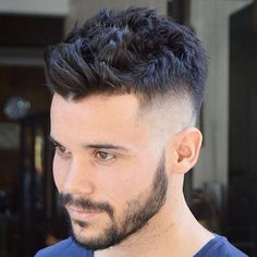 High Skin Fade with Messy Textured Hair