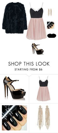 """""""Pink and black."""" by princesaurbana ❤ liked on Polyvore featuring Brian Atwood, Rare London, Charlotte Russe, MANGO, women's clothing, women's fashion, women, female, woman and misses"""