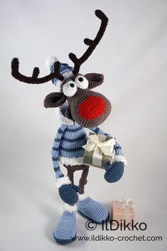Amigurumi Pattern Rudolf the Reindeer XL English Version image 6 Christmas Crochet Patterns, Crochet Toys Patterns, Amigurumi Patterns, Stuffed Toys Patterns, Crochet Amigurumi, Crochet Dolls, Double Crochet, Single Crochet, Apple Pay