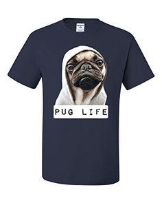 Pug Life Funny T-shirt Dope Thug Life Dog Parody Hipster ...