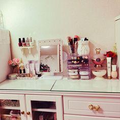 元はテレビ台/姫部屋/一人暮らし/化粧品収納/ロマプリ/ドレッサーもどき…などのインテリア実例 - 2017-02-24 19:17:31 | RoomClip(ルームクリップ) Room Goals, Beauty Room, Vintage Girls, Room Inspiration, Sweet Home, Shabby, Art Deco, Geek Stuff, Vanity