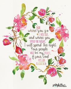 Scripture Based Typography Print Based on by JellyfishPrintables