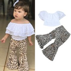 7a5fc3bee Toddler Kids Baby Girls T-shirt Tops Dress+Pants Summer Outfits Clothes 2PCS  Set