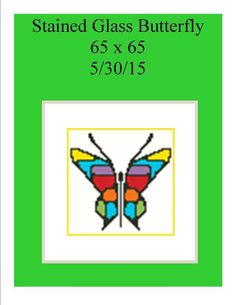 (4) Name: 'Crocheting : Butterfly Stained Glass 65 x 65