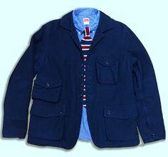 F.O.B.Factory Navy Travel Jacket