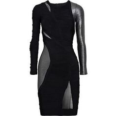 Pre-owned Herve Leger Black Gun Metal Bandage Cocktail Runway Dress ($1,500) ❤ liked on Polyvore featuring dresses, black dress, blacks, sexy evening cocktail dresses, sexy evening dresses, cocktail dresses, form fitting dresses and special occasion dresses