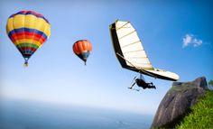 hang gliding, hot air balloons