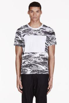 KENZO White & Black Waves T-Shirt
