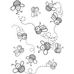 Flying bees Timbre Aladine Sfondo api - G01232