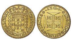 Brazil AV 20000 Reis 1724 (Minas Gerais Mint) Joao V 1706-50