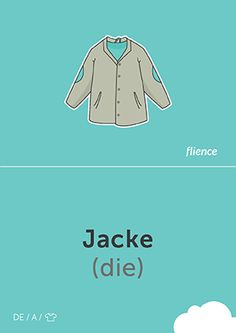 Veste #CardFly #flience #clothes #french #education #flashcard #language
