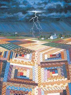Rebecca Barker Quiltscapes - STREAK OF LIGHTNING                                                                                                                                                                                 More