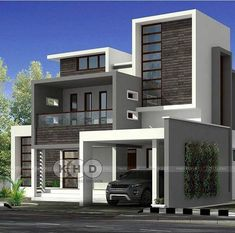 To prepare to stop the outbreak of the TAT [ ] 3 Storey House Design, Bungalow House Design, House Front Design, Best Modern House Design, Latest House Designs, Modern House Plans, Kerala House Design, House Elevation, Villa Design