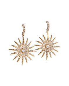 Rue La La — Miriam Salat Plated CZ Star Earrings