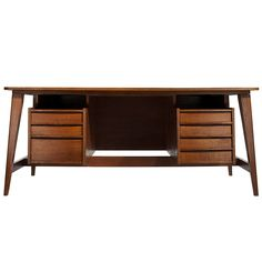Michel Mortier; Teak Desk, 1949.